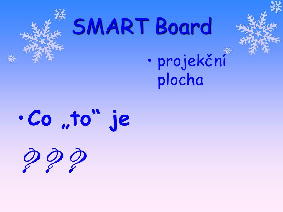 """SMART Board Co """"to je ? ? ? projekční plocha bílá popisovatelná tabule"""