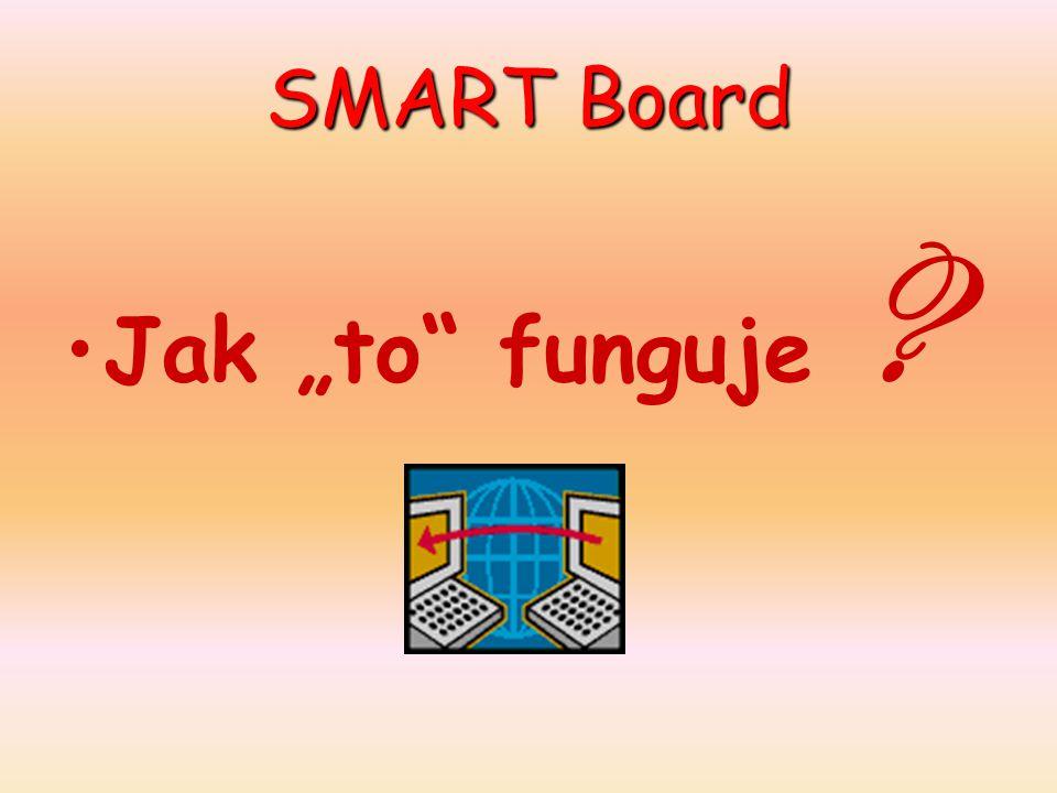 "SMART Board Jak ""to funguje ? 230V PC DP SMART Board VHS DVD"