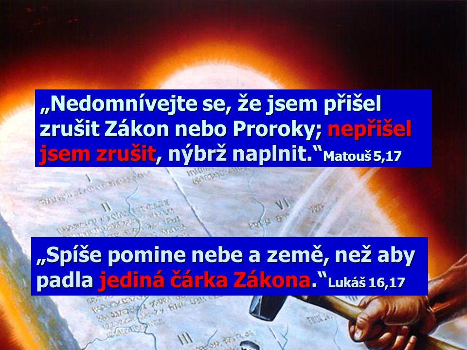 Nebyl Boží zákon zrušen? Nebyl změněn? Nejsme pod zákonem, ale pod milostí! Ježíš odstranil zákon! V Novém Zákoně je desatero zrušeno!