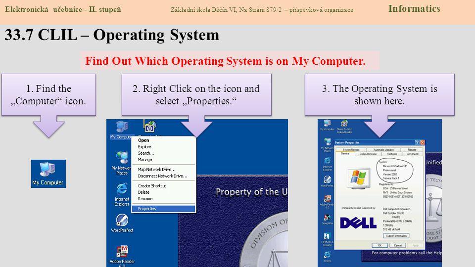 33.7 CLIL – Operating System Elektronická učebnice - II.