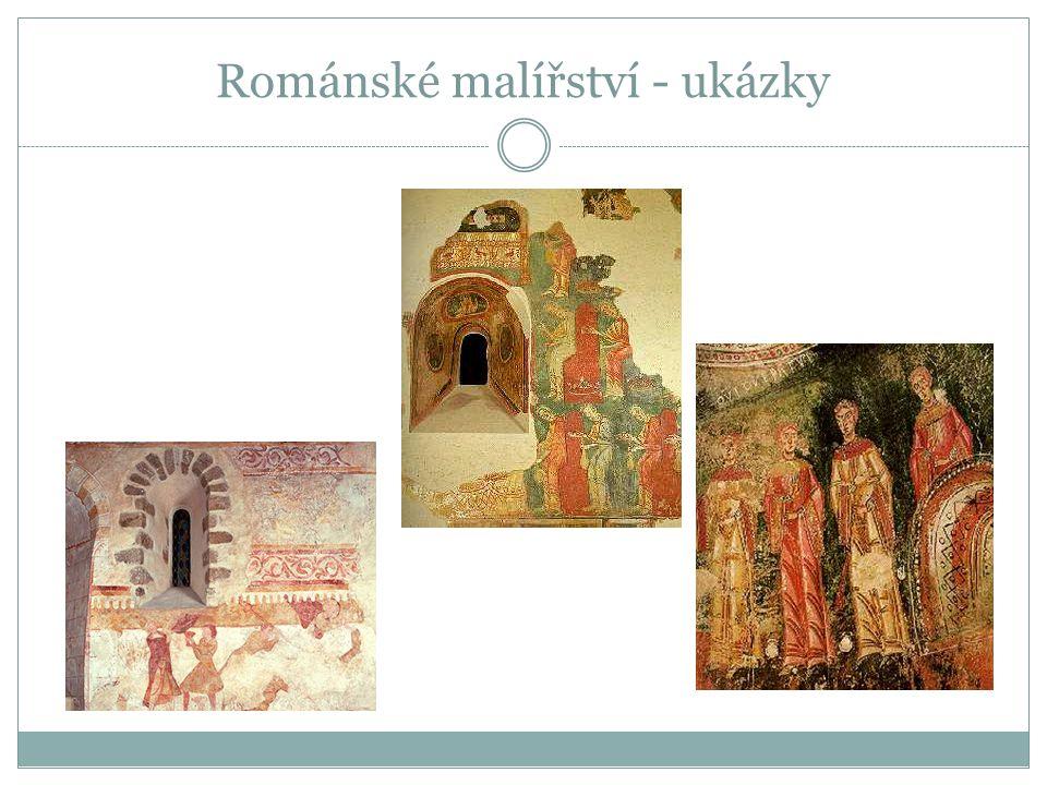 Románské malířství - ukázky