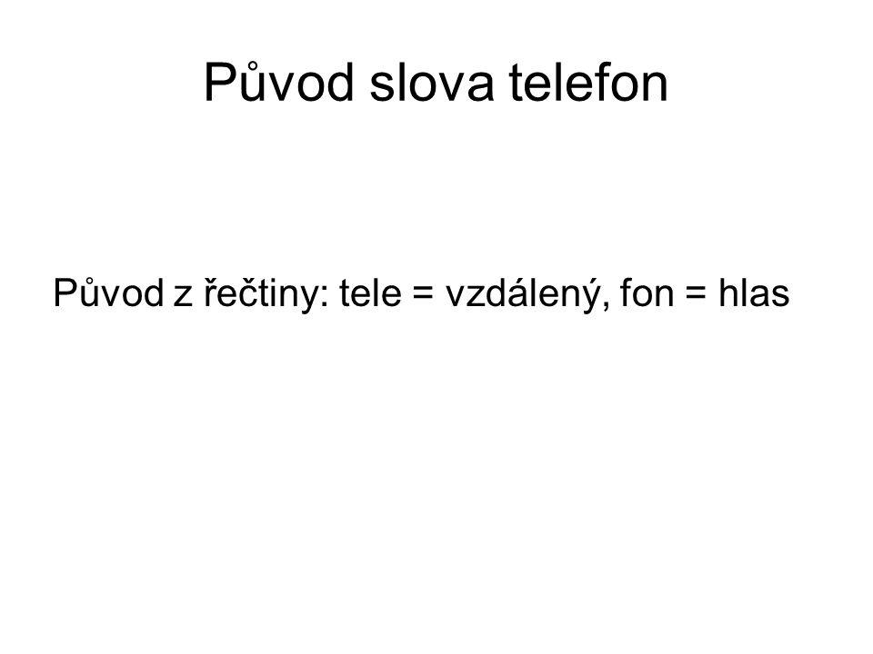 Vynález telefonu Autorství přisuzováno vynálezci A.G.