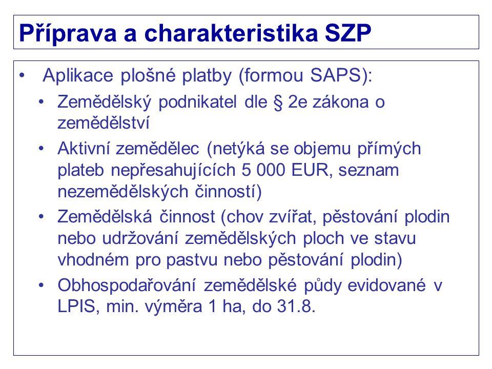 LFA Sazba O: OA 82 EUR/ha (výnosnost do 34 bodů, 70% sazby PRV 2007-2013) OB 57 EUR/ha (výnosnost 34 a více bodů, 61% sazby PRV 2007-2013) Intenzita: H, S – 0,3 VDJ/ha z.