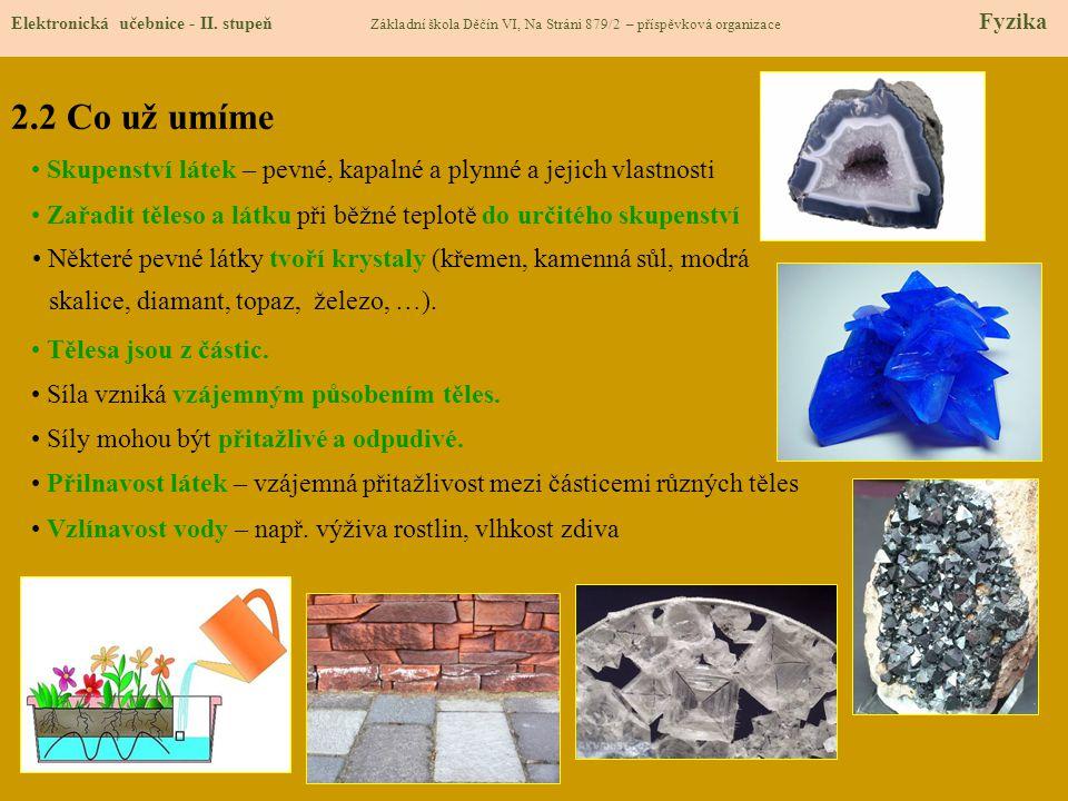 2.3 Nové pojmy Elektronická učebnice - II.