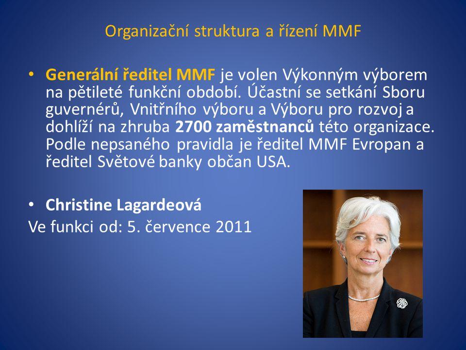 Organizační struktura a řízení MMF Generální ředitel MMF je volen Výkonným výborem na pětileté funkční období.