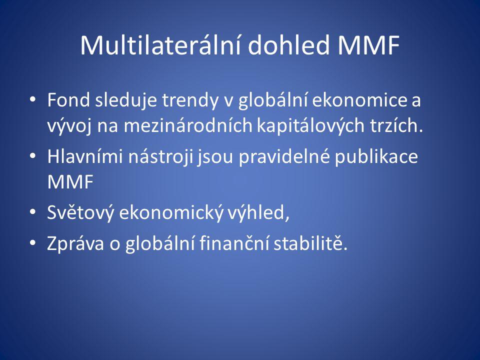 Multilaterální dohled MMF Fond sleduje trendy v globální ekonomice a vývoj na mezinárodních kapitálových trzích.