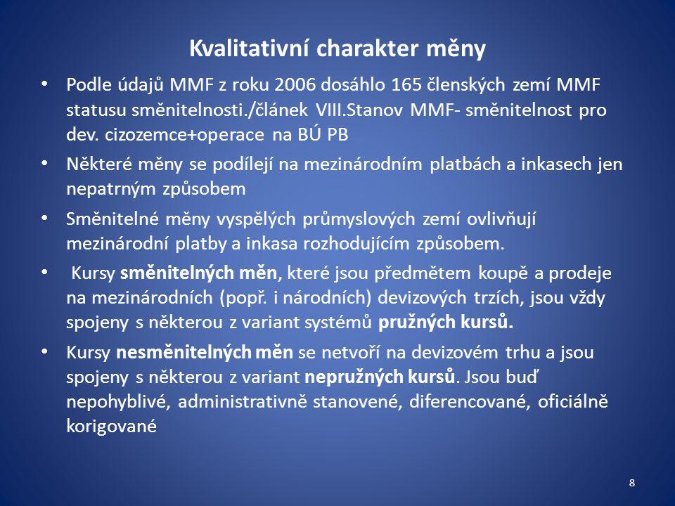Jakým způsobem se počítají průměrné devizové kurzy CZK.