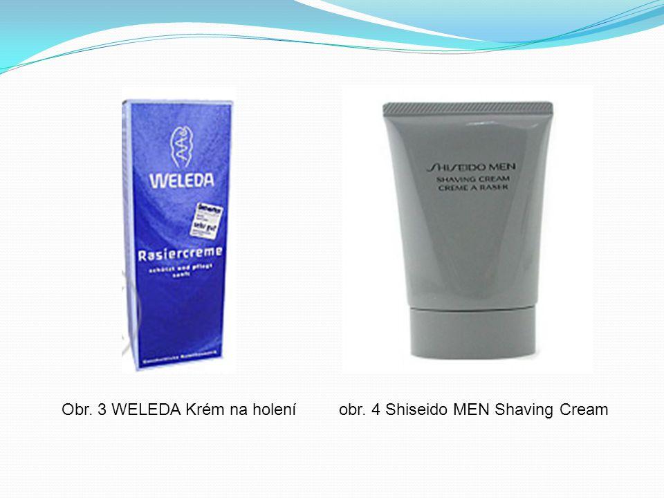 Obr. 3 WELEDA Krém na holení obr. 4 Shiseido MEN Shaving Cream