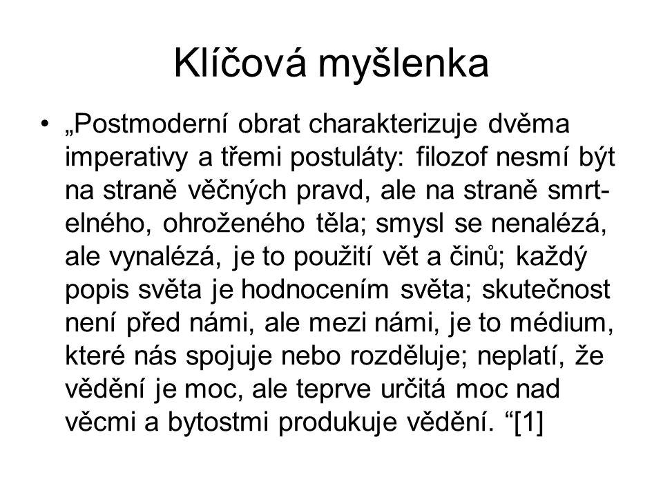 "Život a dílo 1944 Praha "" postmoderní fil."