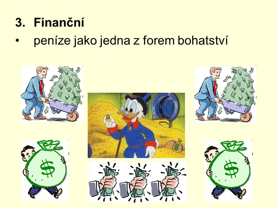 3.Finanční peníze jako jedna z forem bohatství
