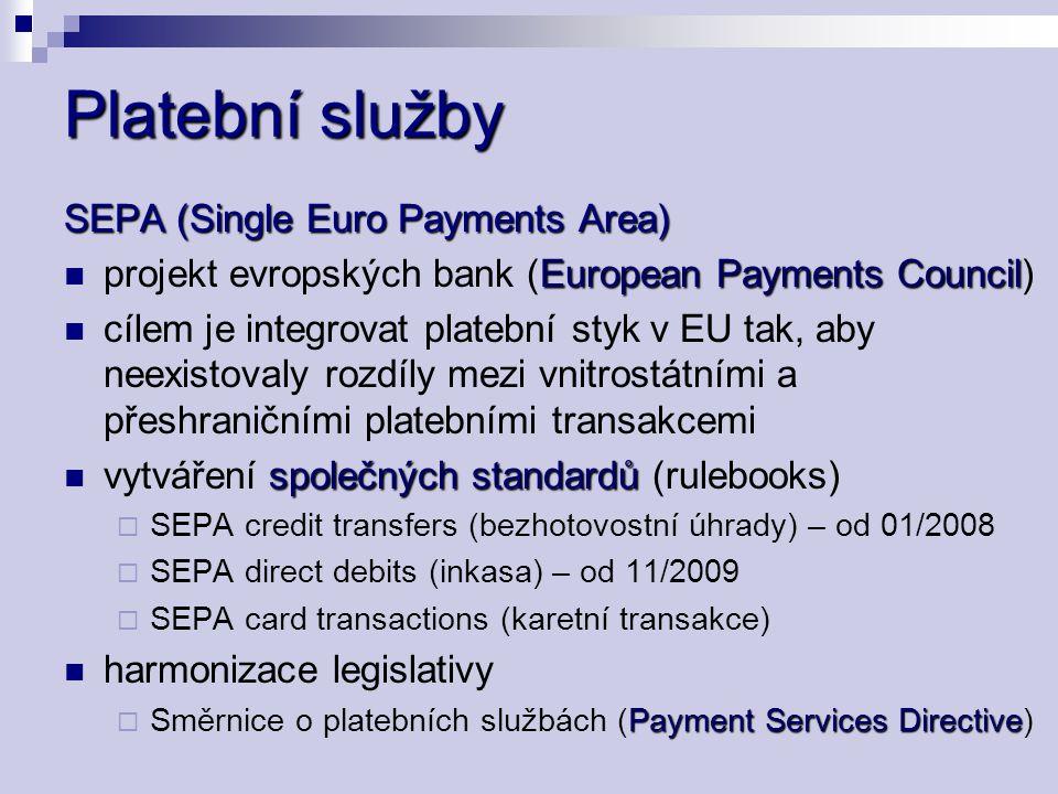 Zákon o platebním styku č.284/2009 Sb. č. 284/2009 Sb.