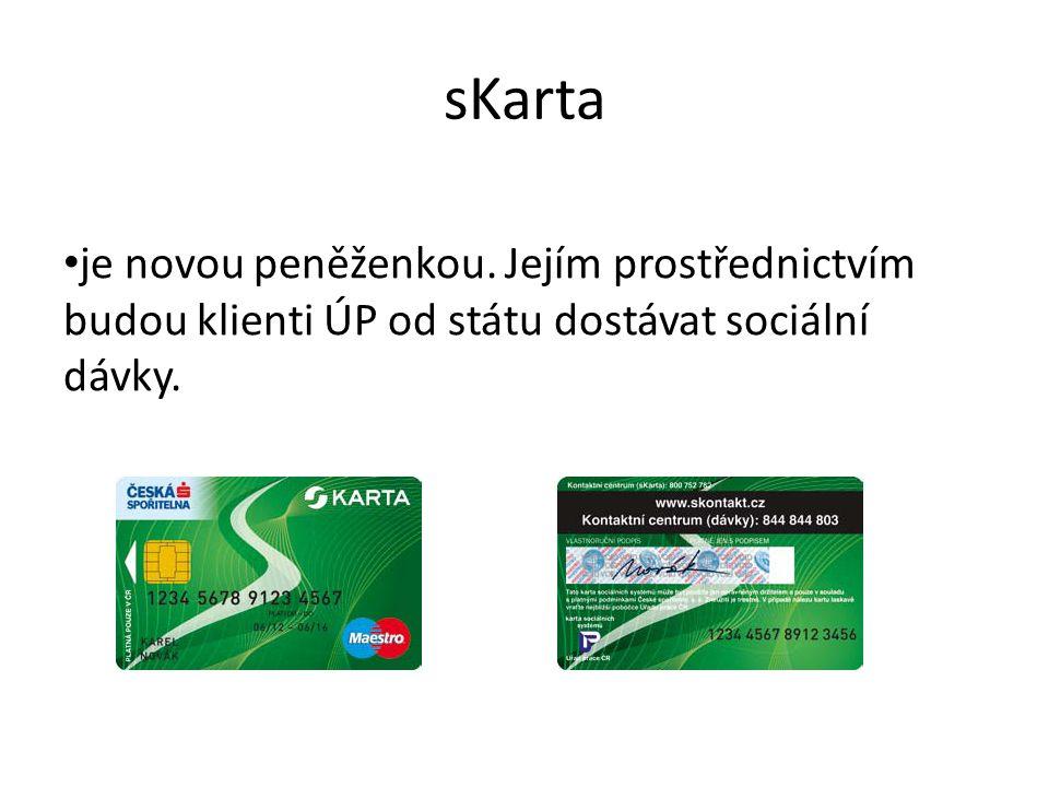sKarta je novou peněženkou. Jejím prostřednictvím budou klienti ÚP od státu dostávat sociální dávky.