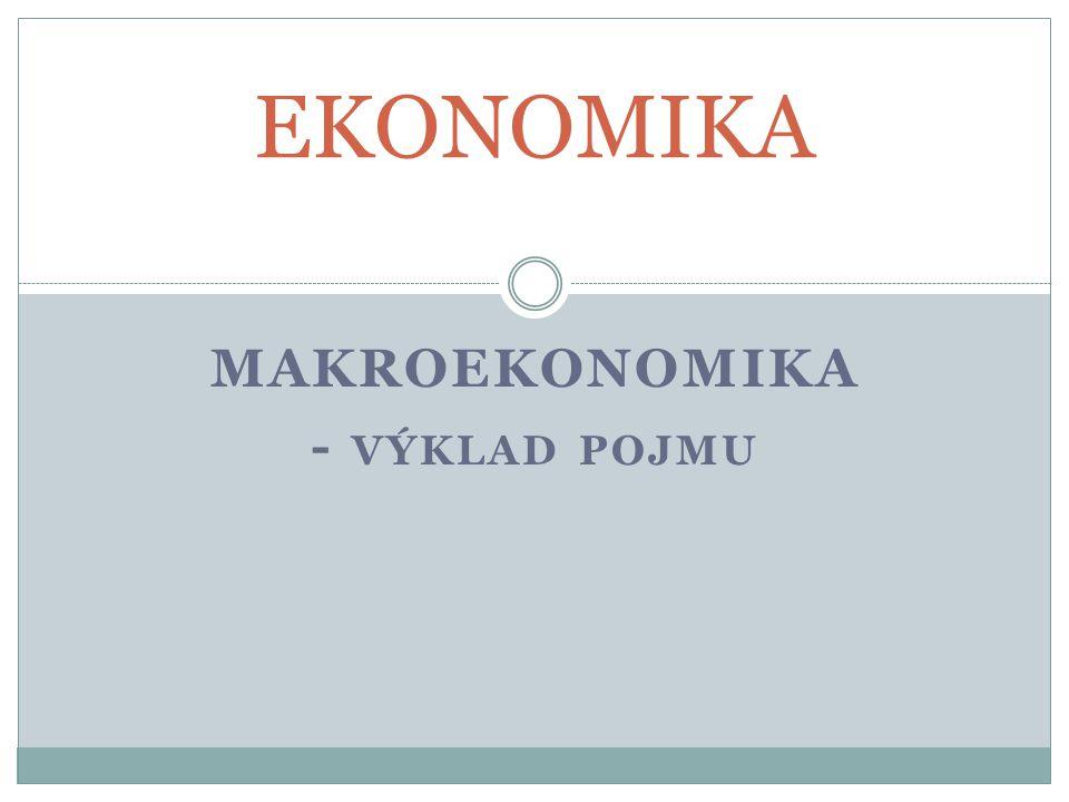 MAKROEKONOMIKA - VÝKLAD POJMU EKONOMIKA