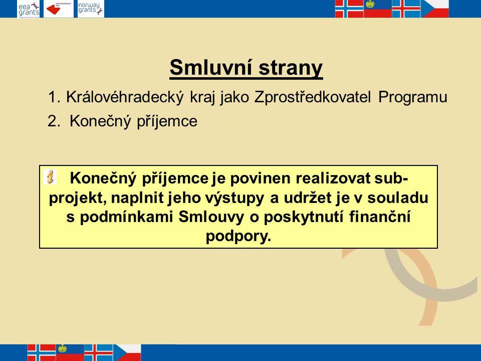 Smluvní strany 1. Královéhradecký kraj jako Zprostředkovatel Programu 2.