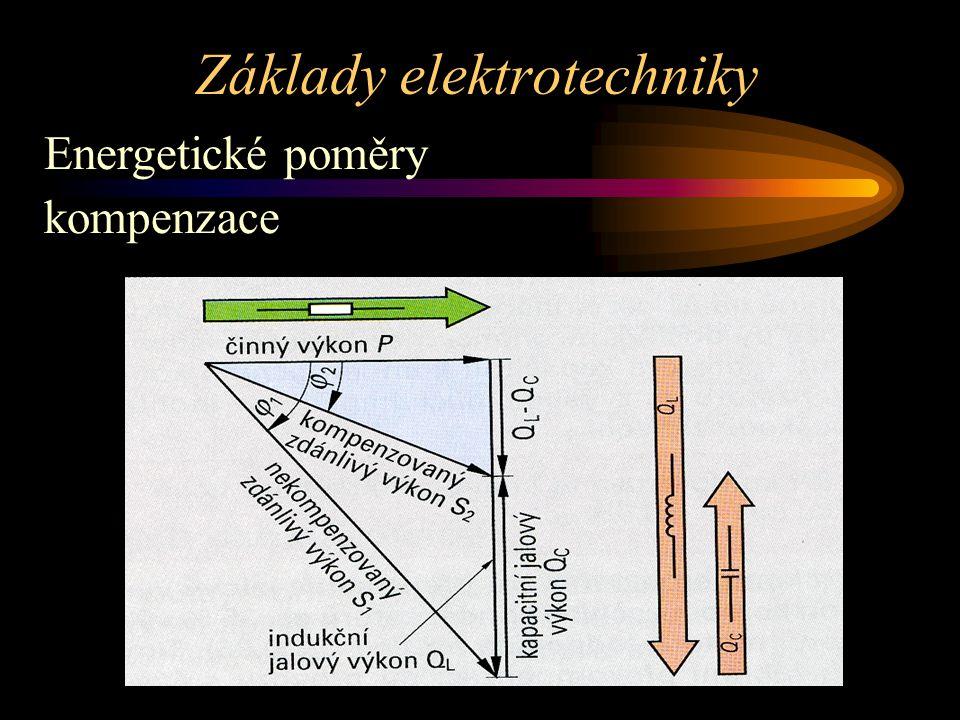 Základy elektrotechniky Energetické poměry kompenzace