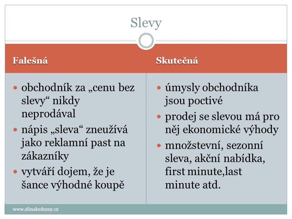 """Falešná Skutečná www.zlinskedumy.cz obchodník za """"cenu bez slevy"""" nikdy neprodával nápis """"sleva"""" zneužívá jako reklamní past na zákazníky vytváří doje"""