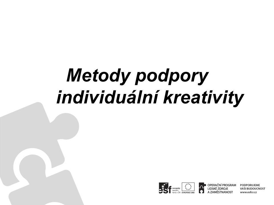 Metody podpory individuální kreativity