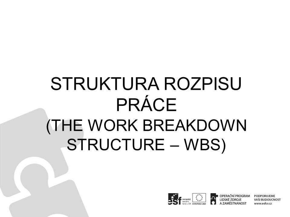 STRUKTURA ROZPISU PRÁCE (THE WORK BREAKDOWN STRUCTURE – WBS)