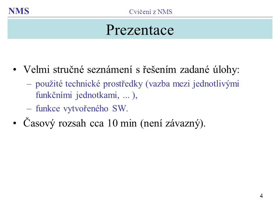 NMS Cvičení z NMS 15 ADC