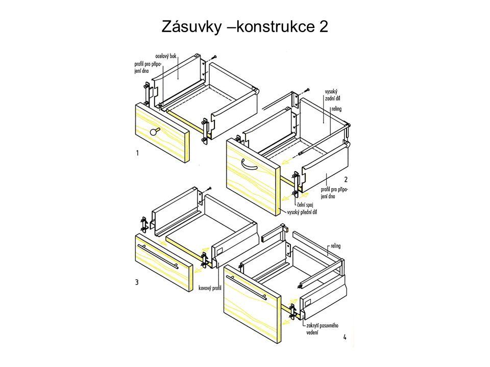 Zásuvky –konstrukce 2