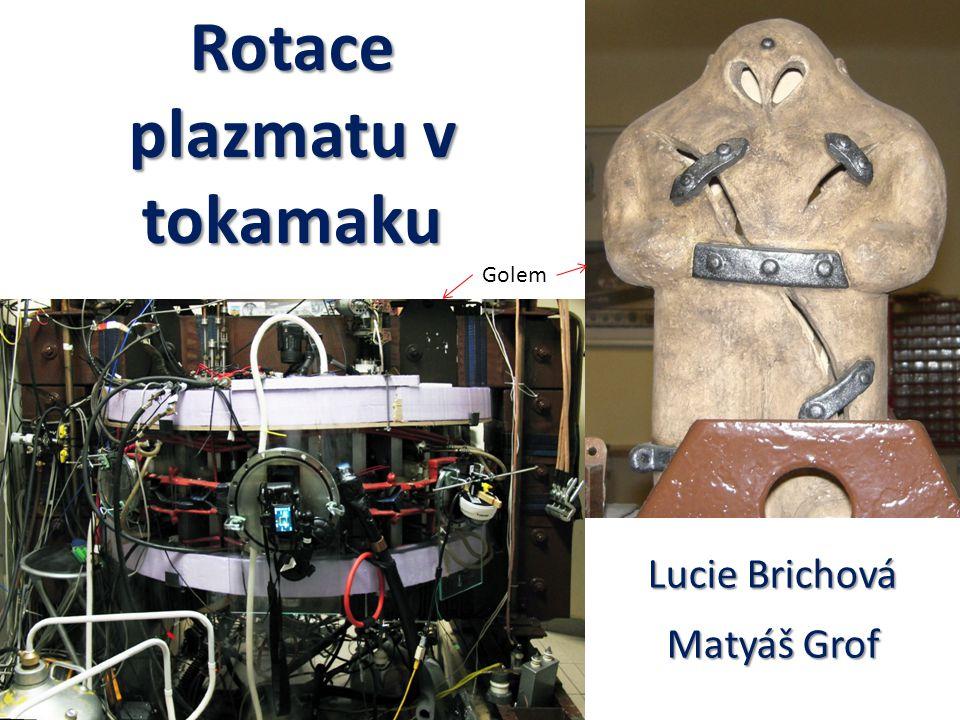 Rotace plazmatu v tokamaku Lucie Brichová Matyáš Grof Golem