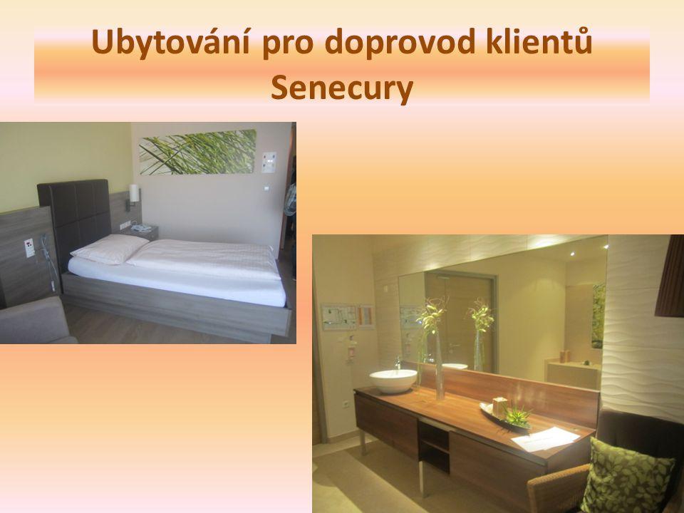 Ubytování pro doprovod klientů Senecury