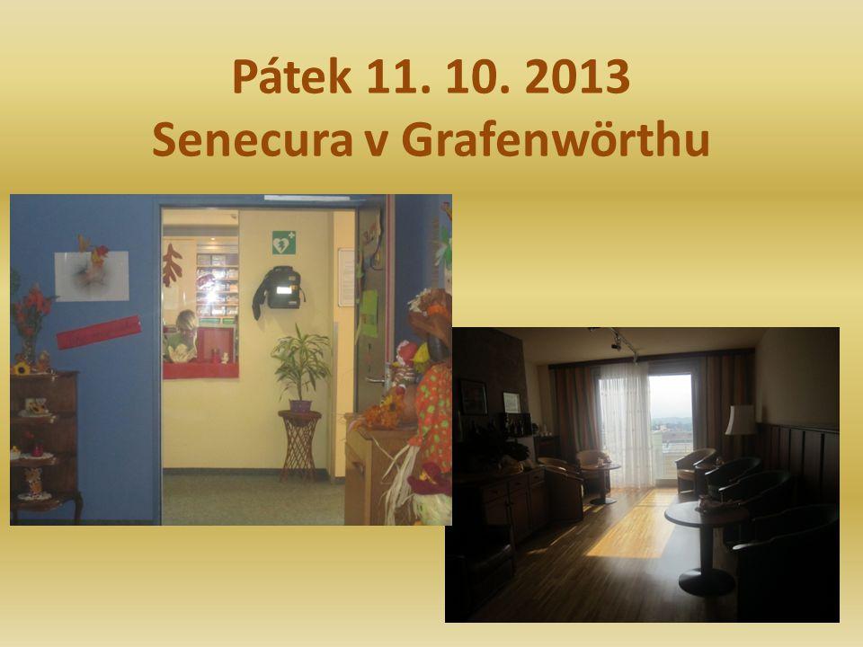Pátek 11. 10. 2013 Senecura v Grafenwörthu