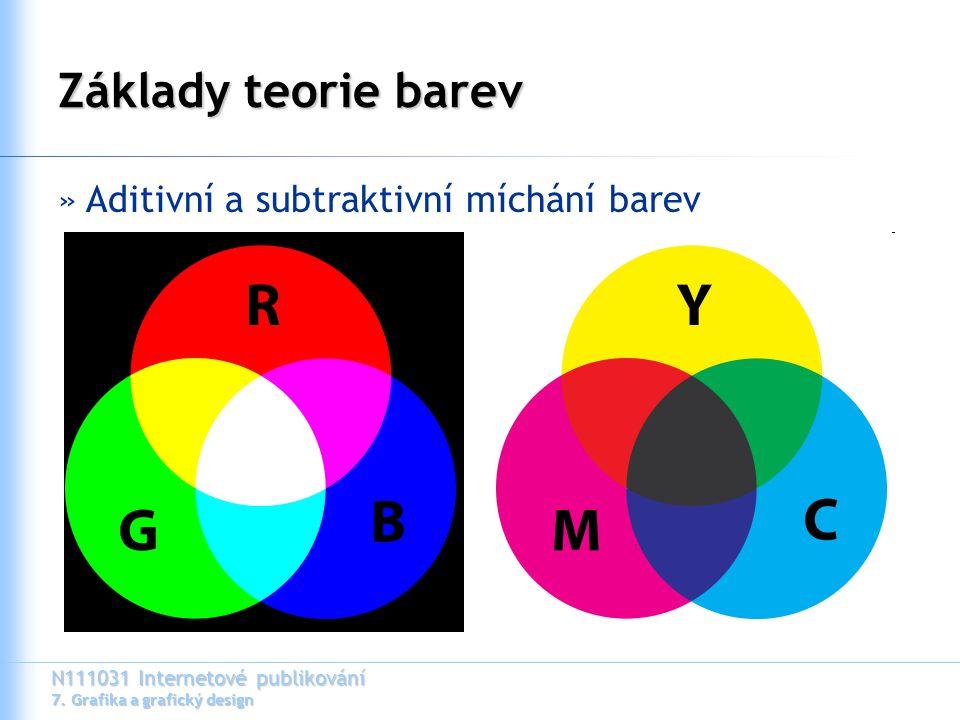 N111031 Internetové publikování 7. Grafika a grafický design Základy teorie barev »Aditivní a subtraktivní míchání barev