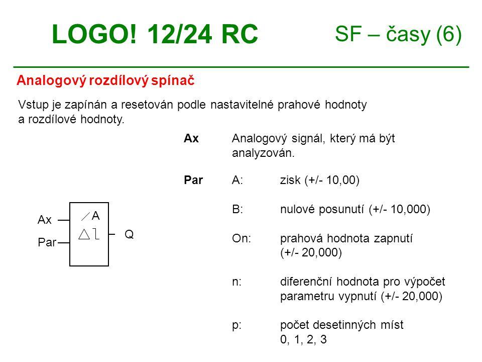 SF – časy (6) Analogový rozdílový spínač LOGO.
