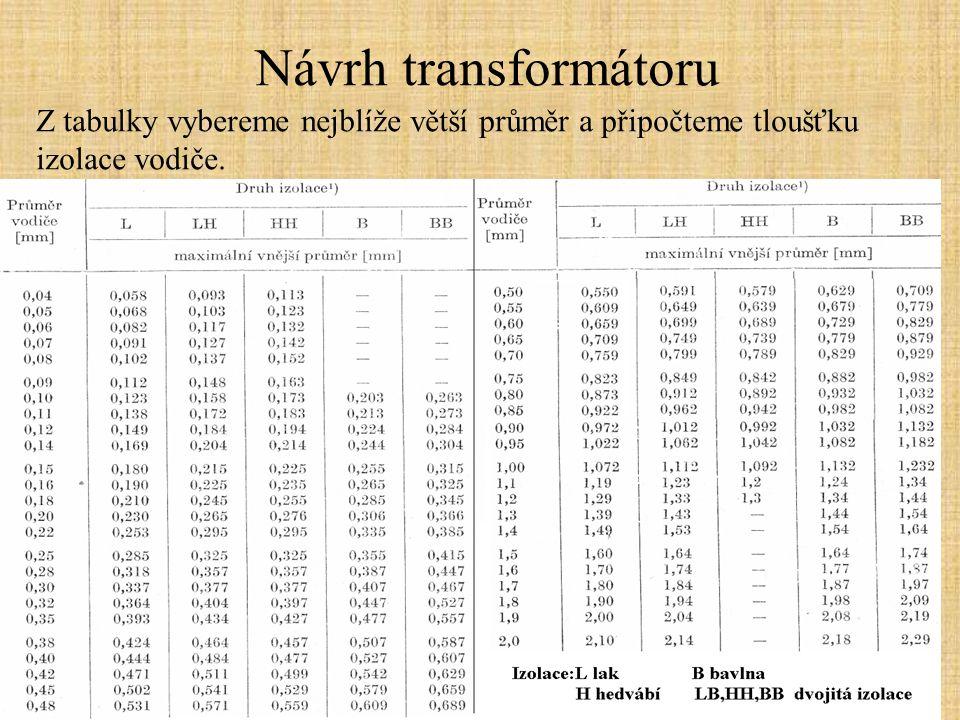 Návrh transformátoru 12.