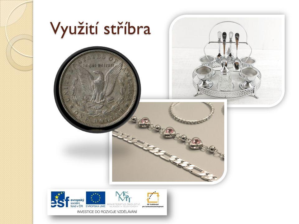 Dobré využití nalézá jak čisté kovové stříbro, tak také stříbro ve sloučeninách.