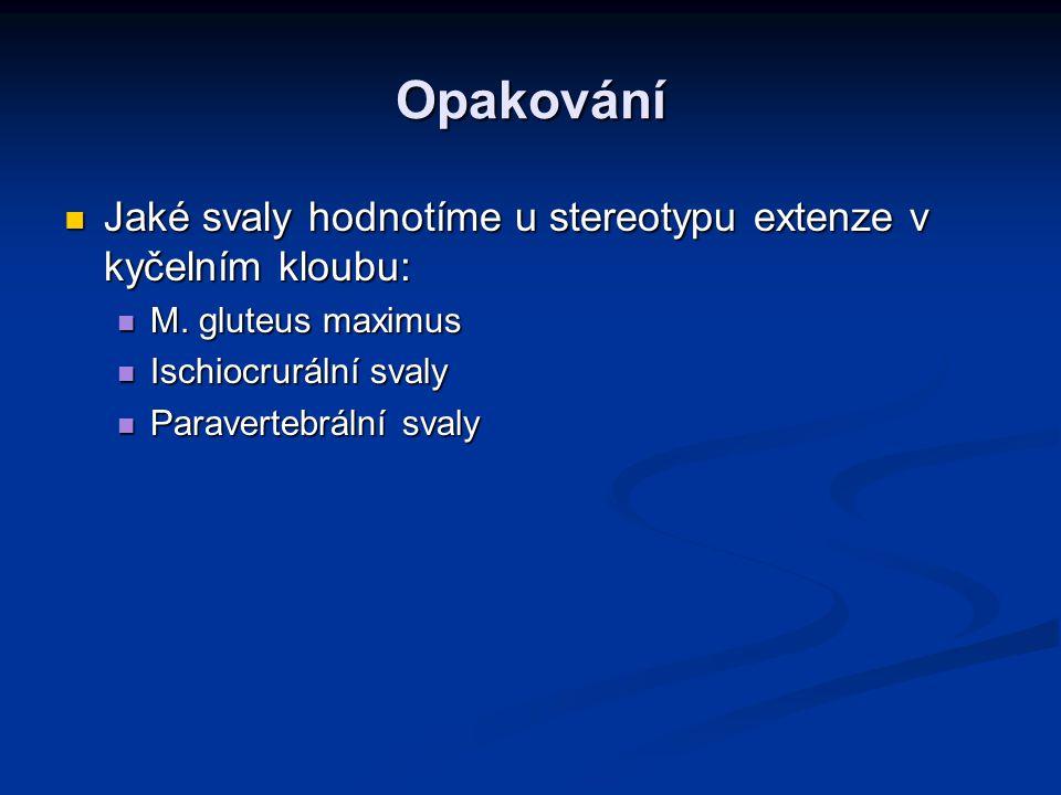 Opakování Jaké svaly hodnotíme u stereotypu extenze v kyčelním kloubu: Jaké svaly hodnotíme u stereotypu extenze v kyčelním kloubu: M. gluteus maximus