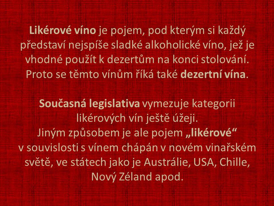 Likérové víno je pojem, pod kterým si každý představí nejspíše sladké alkoholické víno, jež je vhodné použít k dezertům na konci stolování. Proto se t