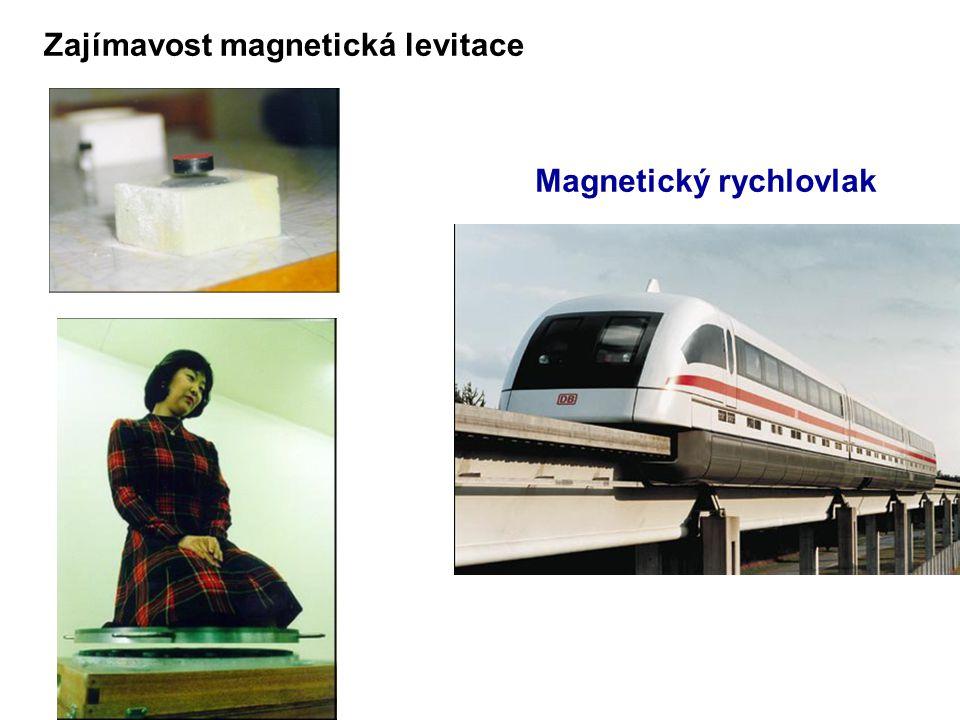 Zajímavost magnetická levitace Magnetický rychlovlak