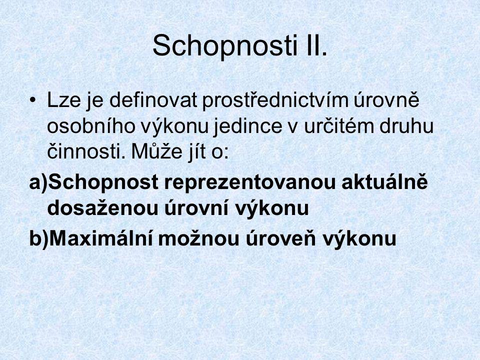 Schopnosti II.