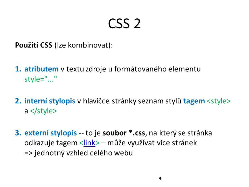 Cvičení informační gramotnosti 1.Zobrazte si zdrojový kód stránek Vaší školy 2.Zjistěte název souboru s externími styly pro tyto stránky.