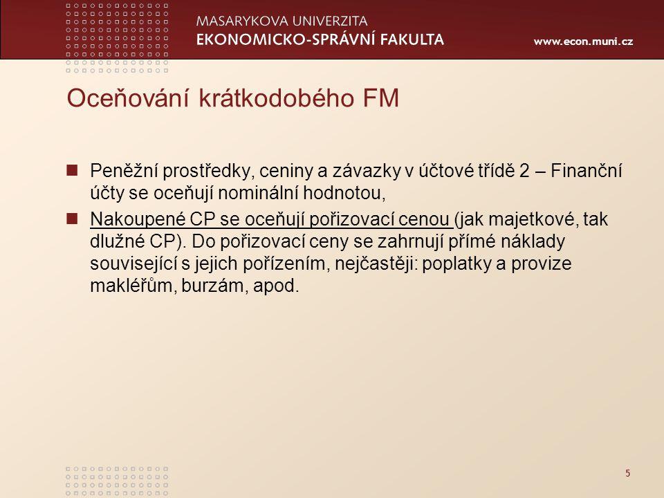 www.econ.muni.cz Dluhopisy držené do splatnosti Př.