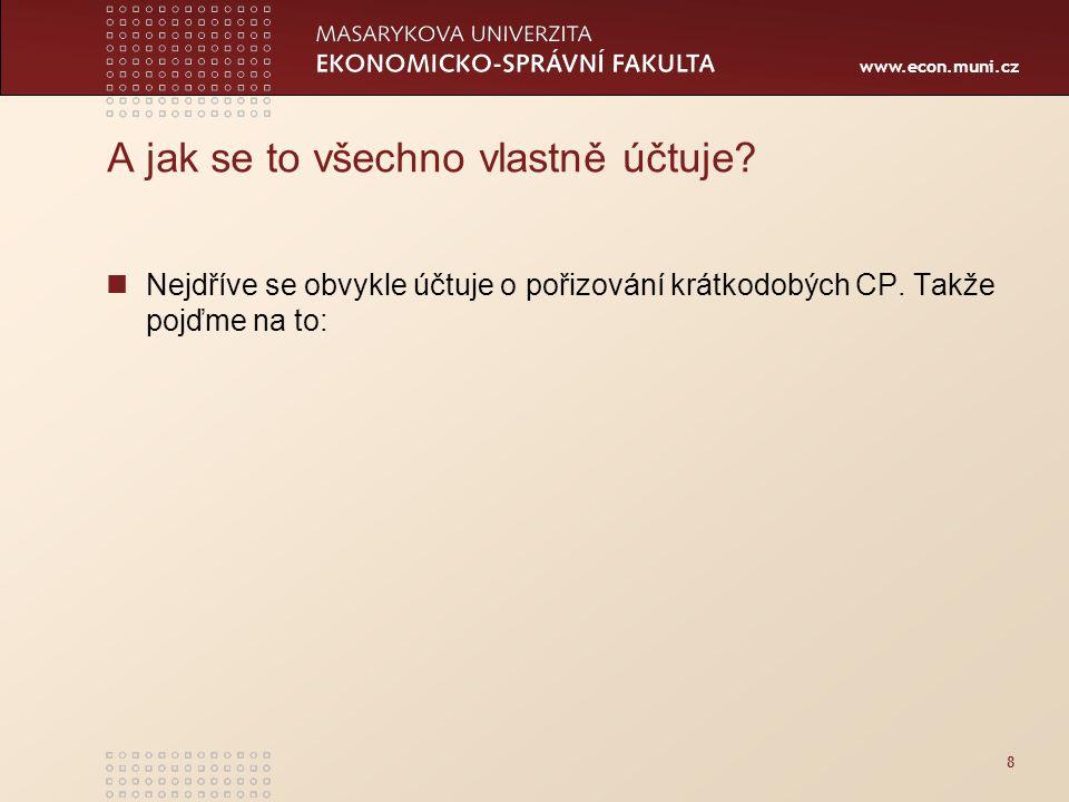 www.econ.muni.cz A jak se to všechno vlastně účtuje.