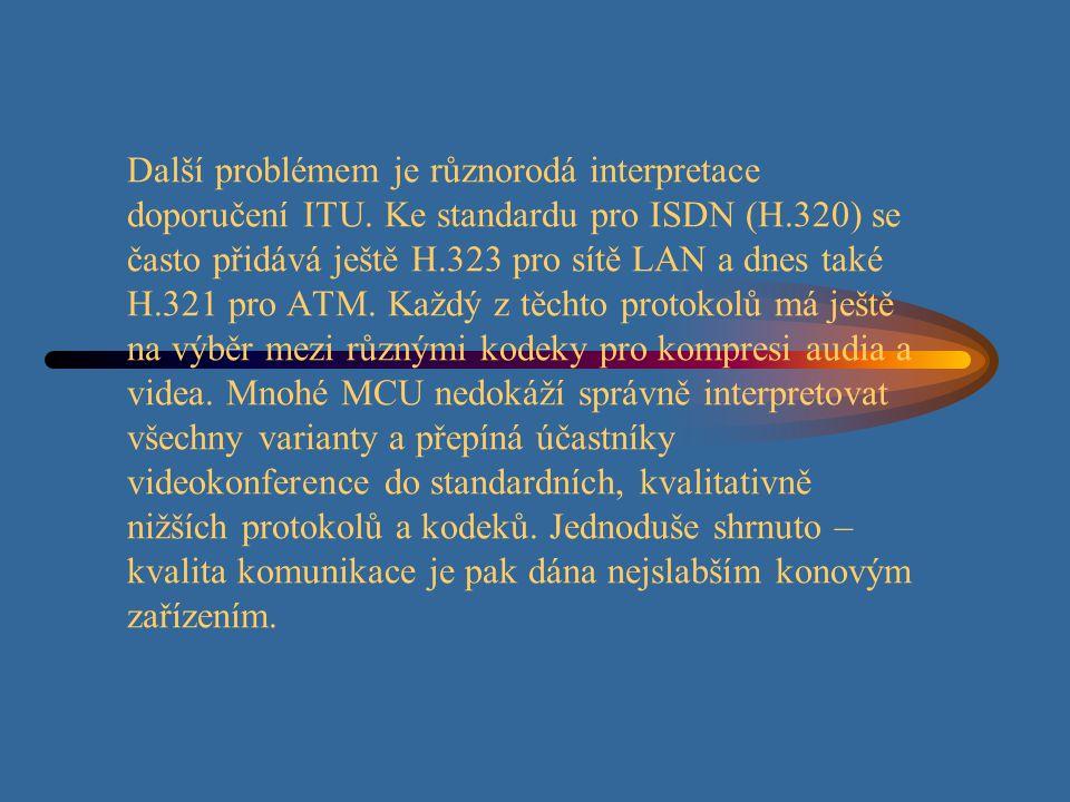 Další problémem je různorodá interpretace doporučení ITU.