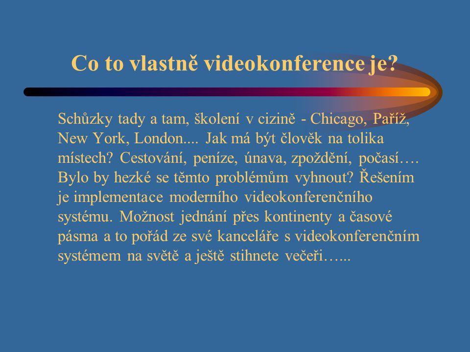 Obsah: 1.Úvod 2. Co to vlastně videokonference je.