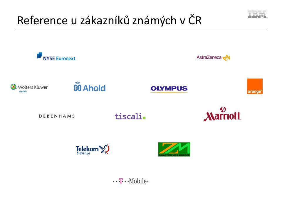 Reference u zákazníků známých v ČR
