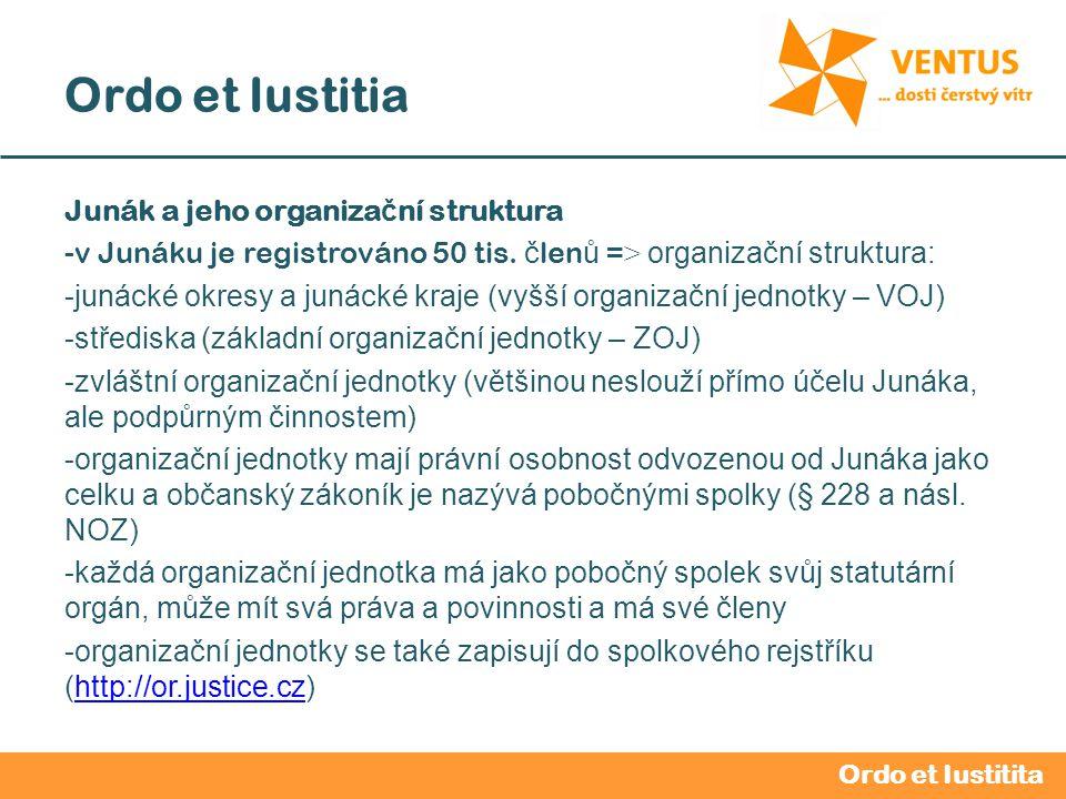 2012 / 2013 Ordo et Iustitia Junák a jeho organiza č ní struktura -v Junáku je registrováno 50 tis.