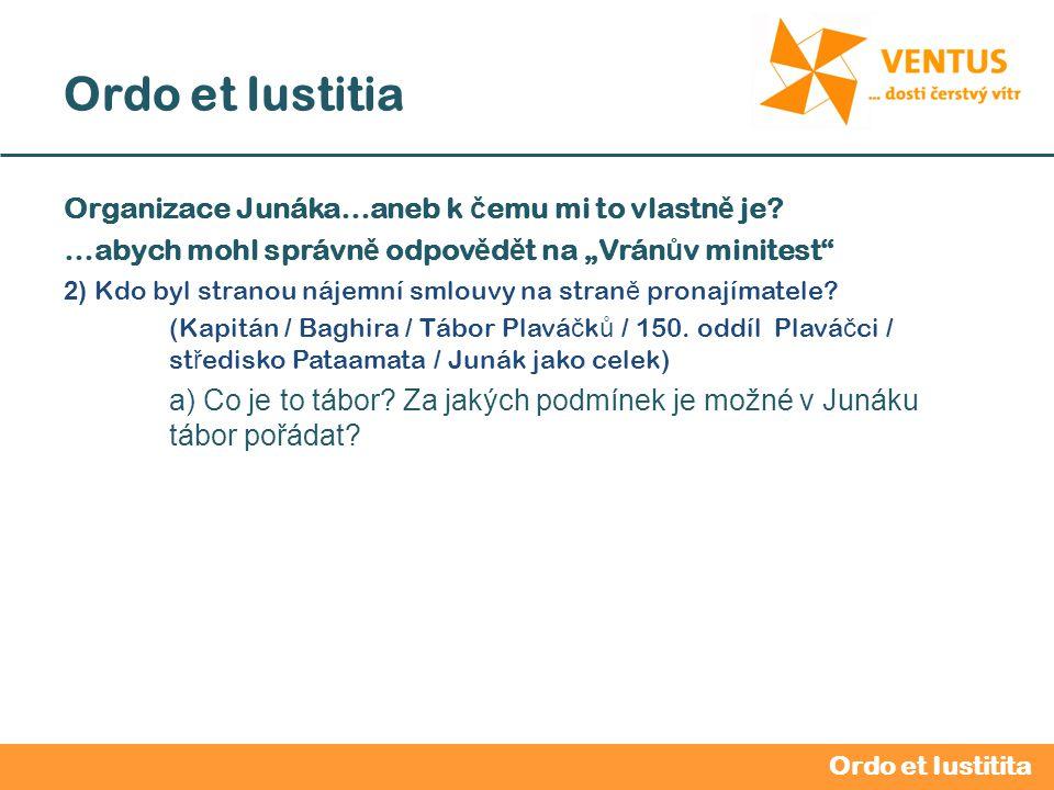 2012 / 2013 Ordo et Iustitia Vedoucí oddílu – v ů dce oddílu Pravomoci oddílového vedoucího: 1.