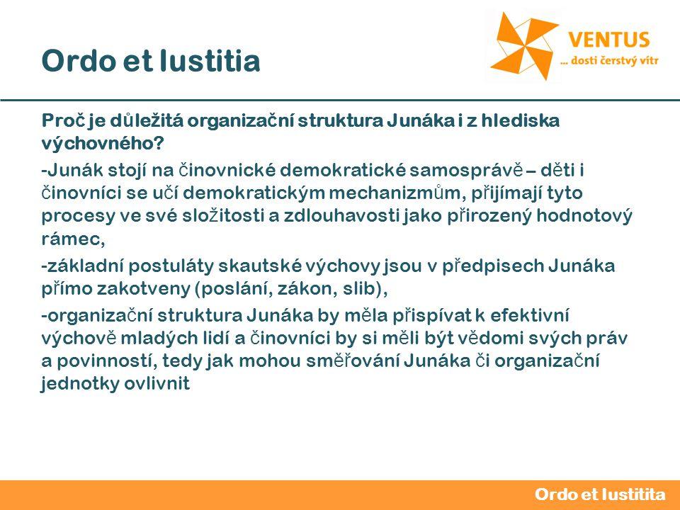 2012 / 2013 Ordo et Iustitia Organiza č ní struktura – vyšší organiza č ní slo ž ky (VOJ ) Junák – č eský skaut, kraj Praha, z.