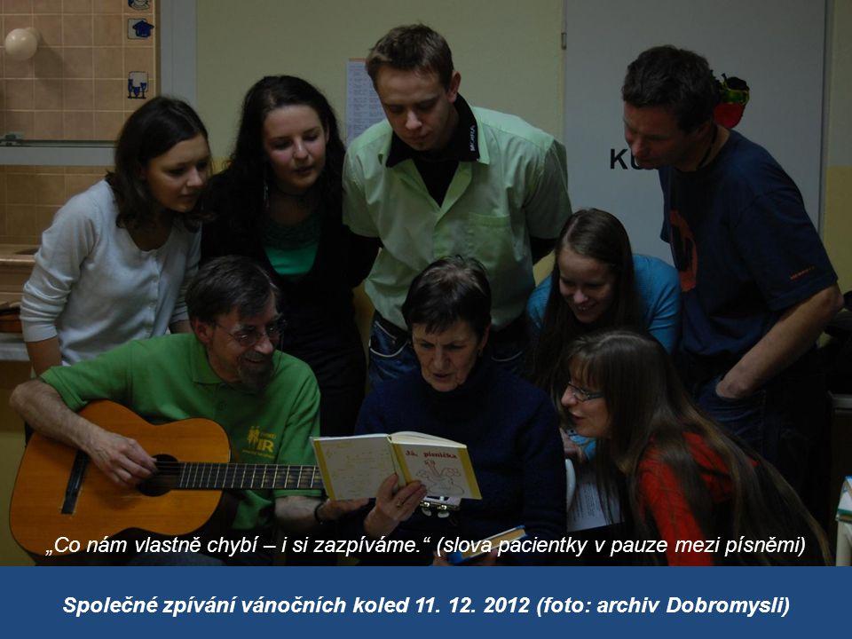 Společné zpívání vánočních koled 11. 12.