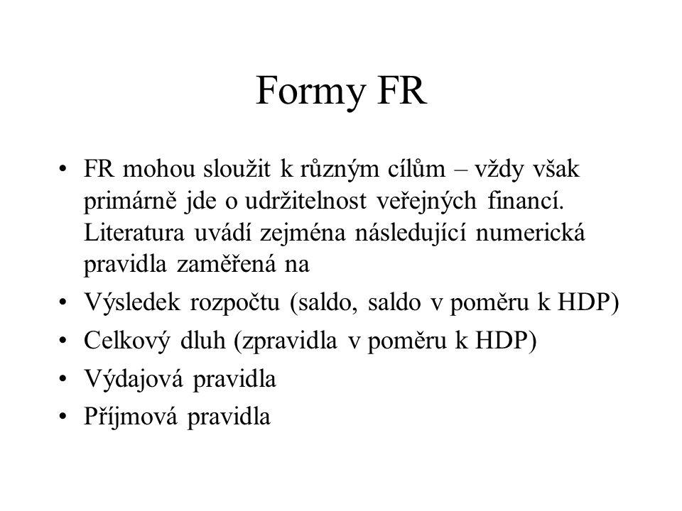 Formy FR FR mohou sloužit k různým cílům – vždy však primárně jde o udržitelnost veřejných financí.