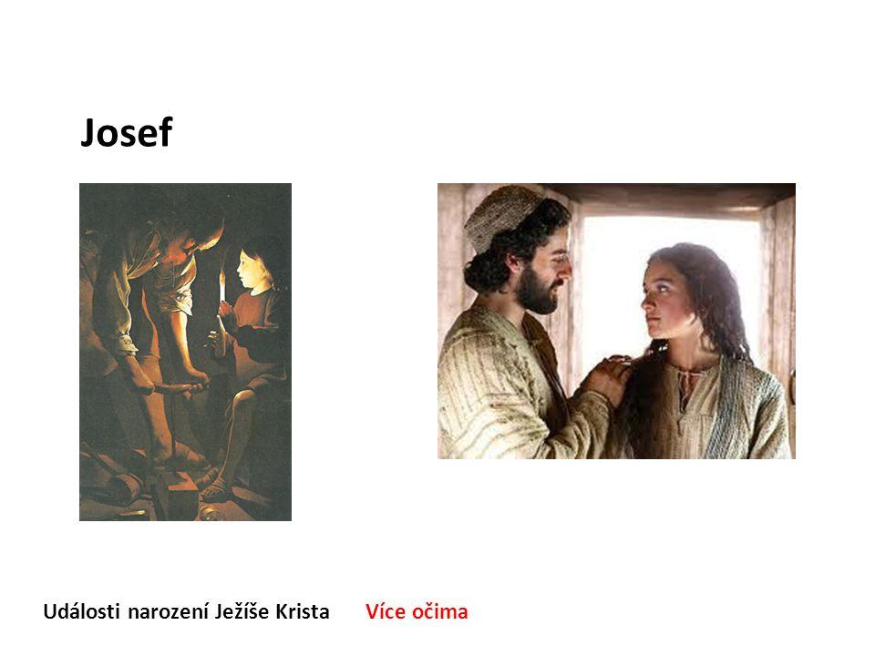 Události narození Ježíše Krista Více očima Josef Jak si se seznámil s Marií, svou manželkou.