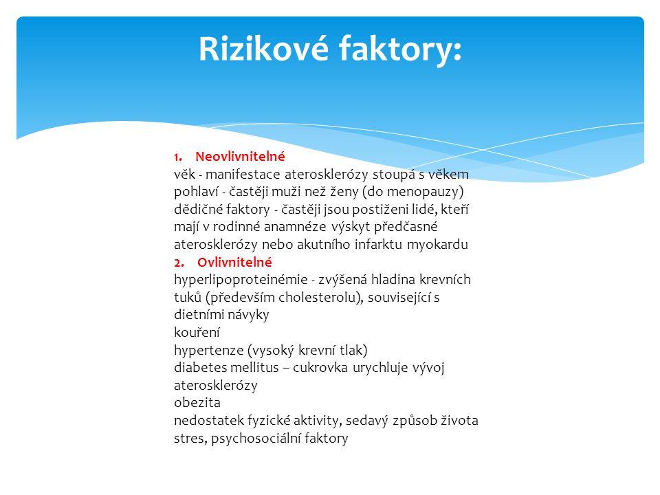 Rizikové faktory: 1.
