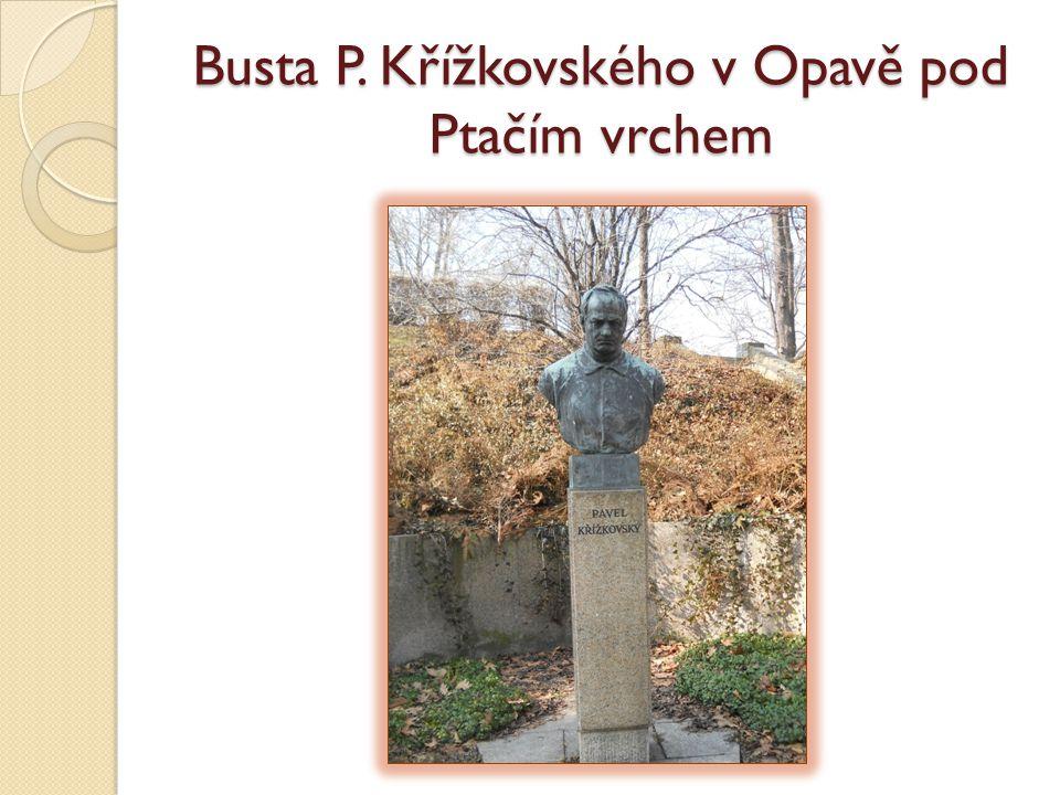 Busta P. Křížkovského v Opavě pod Ptačím vrchem