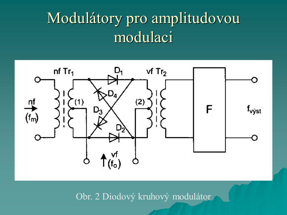 Modulátory pro amplitudovou modulaci Obr. 2 Diodový kruhový modulátor